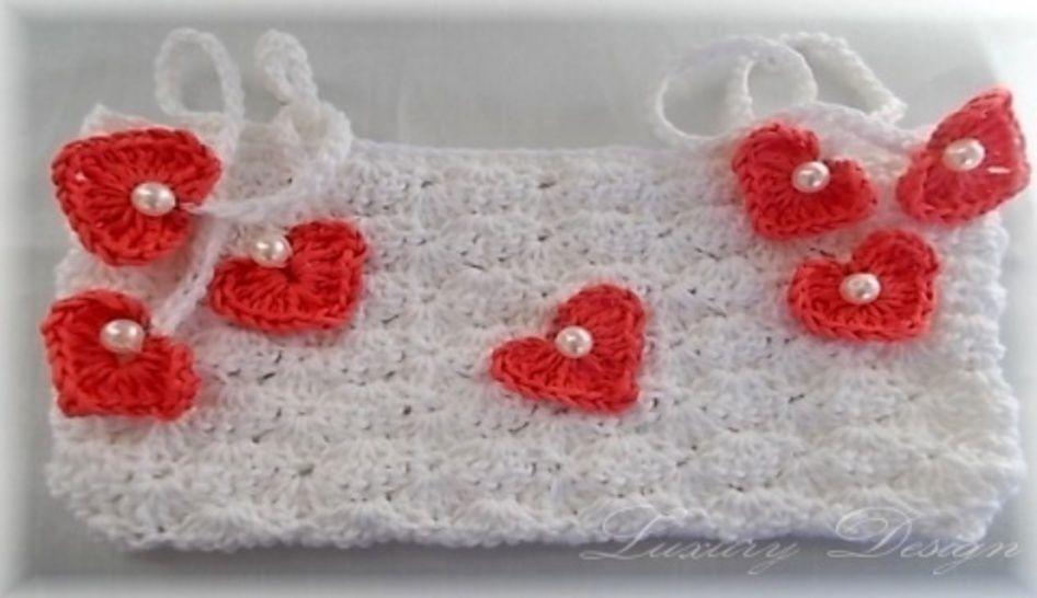 Tasche für Ballerinas mit Herzen *Lifestyle Design No.7* - Häkelanleitungen bei Makerist sofort runterladen