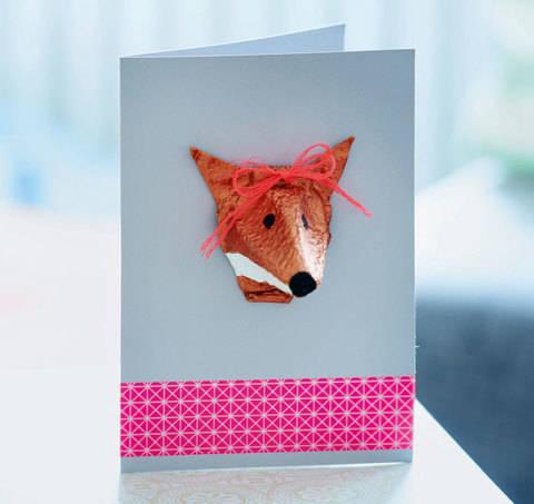 Fuchskarte in 3D Bastelanleitung bei Makerist sofort runterladen
