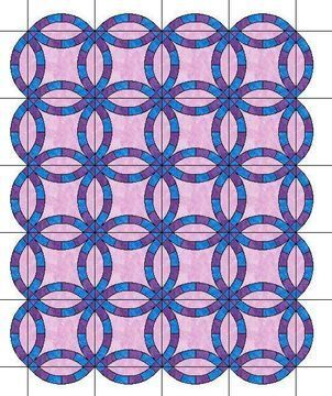 Download The Double Wedding Ring Quilt with Scalloped Edges Template Patterns for 6 SIZES  - Patchwork & Quilting immediately at Makerist