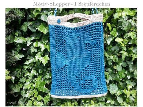 Motiv-Shopper No. I Seepferdchen - Häkelanleitung bei Makerist sofort runterladen