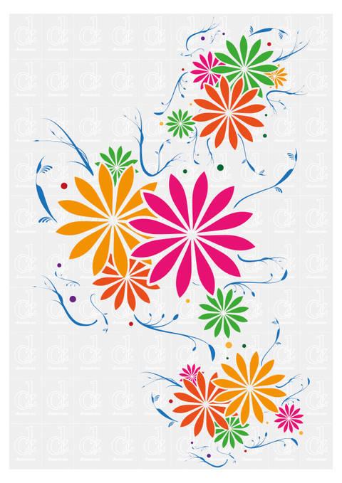 Blumenmuster  1 - Schneideplotter Datei © Danzayart bei Makerist sofort runterladen