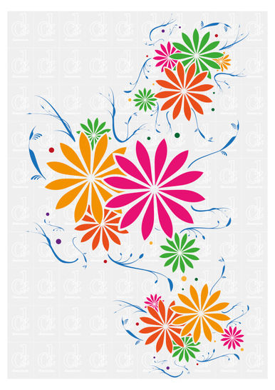 Download Floral Pattern - plotter cutting file © Danzayart - Cutting Files immediately at Makerist