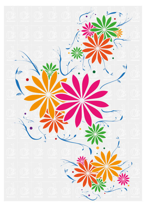 Download Floral Pattern - plotter cutting file © Danzayart immediately at Makerist