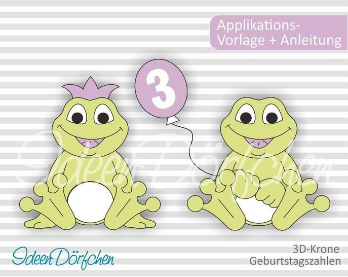 Ideendörfchen Applikationsvorlage Frosch Egon