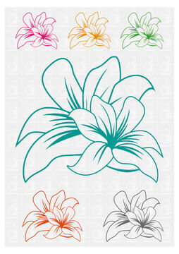 Download Flowers 2 - plotter cutting file © Danzayart - Cutting Files immediately at Makerist