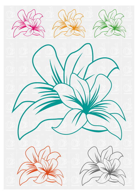 Download Flowers 2 - plotter cutting file © Danzayart immediately at Makerist