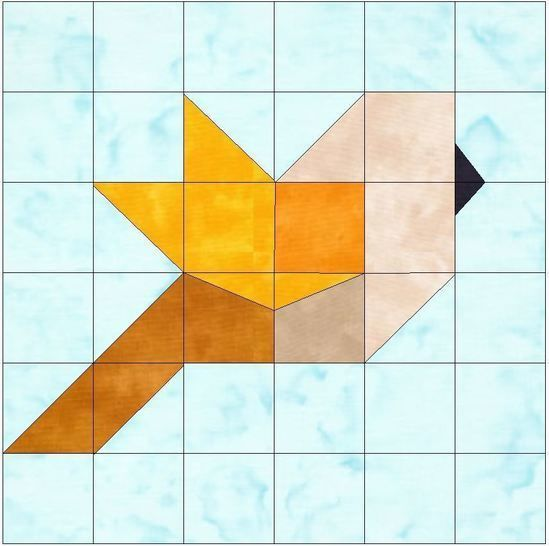 Download Bird Paper Piecing Foundation Quilting Block Pattern - Patchwork & Quilting immediately at Makerist