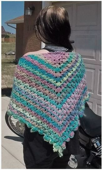 Candied Bleeding Heart Shawl Wrap Pattern With Chart Diagram And