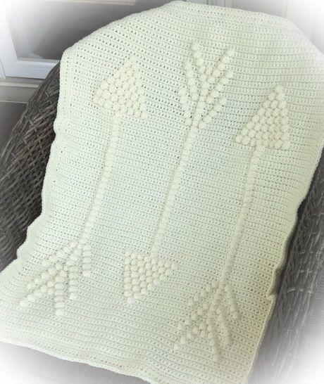 Download Three Arrows Baby Blanket - Crochet Patterns immediately at Makerist