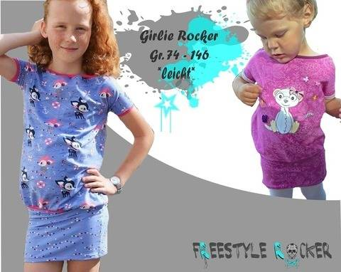 Freestyle Rocker * Girlie Rocker * Oversizekleid bei Makerist sofort runterladen