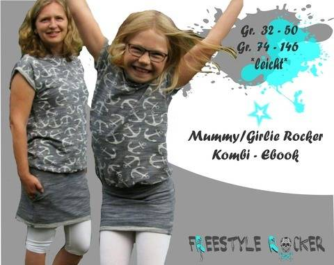 Freestyle Rocker * Mummy/Girlie Rocker * Kombi * Oversizekleid bei Makerist sofort runterladen