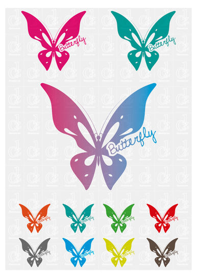 Download Butterfly 1 - plotter cutting file © Danzayart - Cutting Files immediately at Makerist