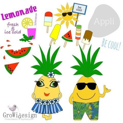 Cool & Sweet Summer Applikationsvorlage bei Makerist sofort runterladen