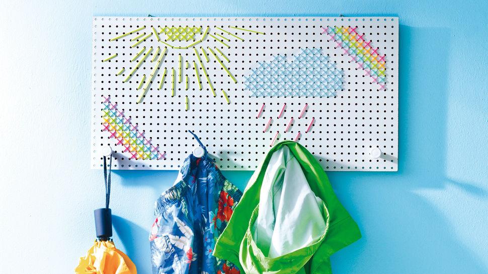 Quietschbunte Allwetter-Garderobe Stickanleitung - Stickmuster bei Makerist sofort runterladen