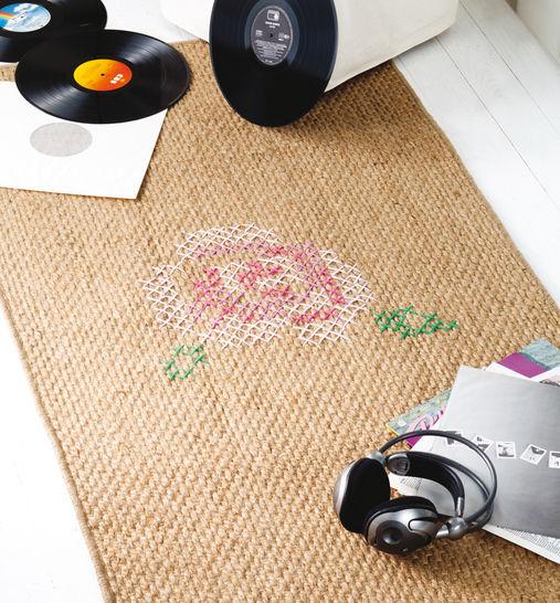 Rosiger Teppich Stickanleitung - Stickmuster bei Makerist sofort runterladen