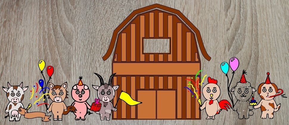 """Plotterserie """"Feiernde Bauernhoftiere"""" - Plotterdateien bei Makerist sofort runterladen"""
