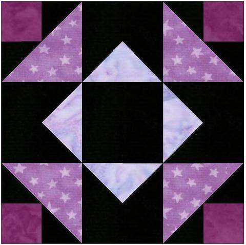 Download Independence Star 15 Inch Block Template Quilting Pattern immediately at Makerist