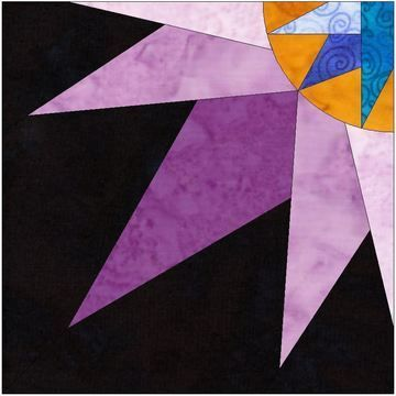 Download HC Quarter Star 10 Inch Paper Piecing Foundation Quilting Pattern - Patchwork & Quilting immediately at Makerist