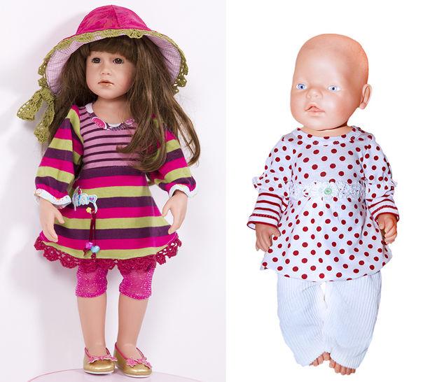Tunika, Shrirt ULLA für Puppen, Nähanleitung und Schnittmuster - Nähanleitungen bei Makerist sofort runterladen