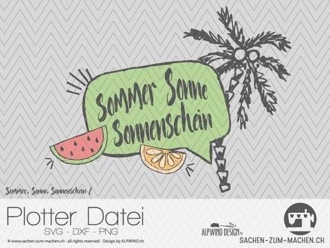 """Plotter-Datei """"Sommer Sonne Sonnenschein"""" #2 bei Makerist sofort runterladen"""