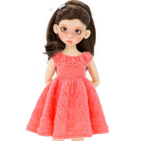 Doll summer dress, Doll clothes, 18 inch doll - knitting pattern at Makerist