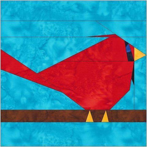 Download HC Cardinal Paper Piece Foundation Quilting Pattern immediately at Makerist