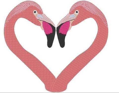 Flamingo love 13x18 Vollstickdatei bei Makerist sofort runterladen