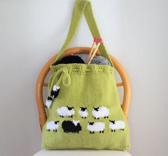 Download Flock of Sheep Knitted Bag - Knitting Patterns immediately at Makerist