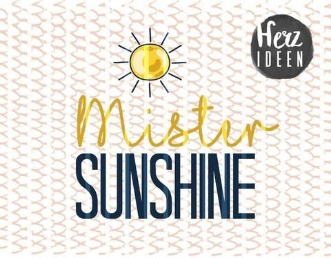 "Plotterdatei ""mister sunshine"" DXF PNG SVG - Herzideen bei Makerist sofort runterladen"