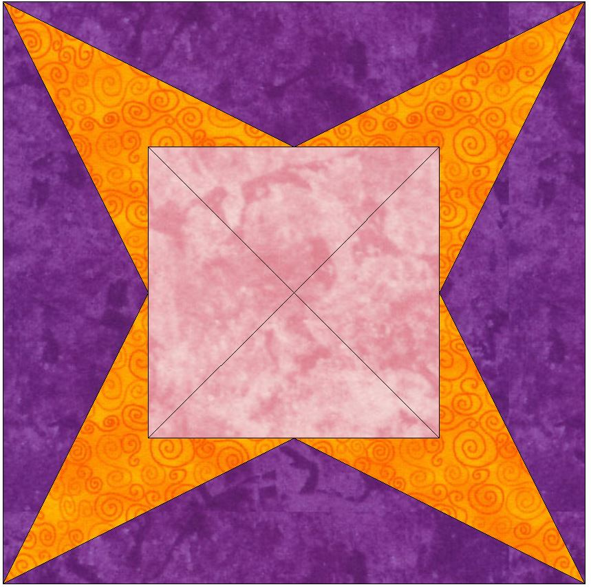 Quilt Patterns With Y Seams : Y-Seam 15 Inch Block Quilting Template Pattern