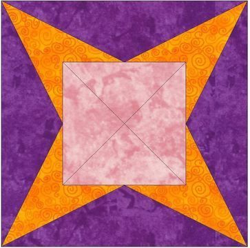 Download Y-Seam 15 Inch Block Quilting Template Pattern - Patchwork & Quilting immediately at Makerist