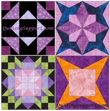 Download HC Star Set 1 of 15 Inch Block Quilting Template Patterns - Patchwork & Quilting immediately at Makerist