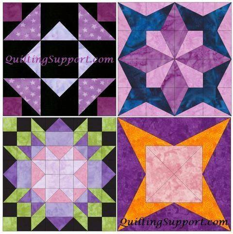 Download HC Star Set 1 of 15 Inch Block Quilting Template Patterns immediately at Makerist