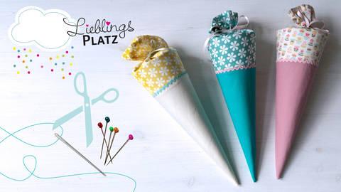 """Schültüte 35 cm – Anleitung und Schnitt von """"die Knuschels"""" bei Makerist sofort runterladen"""