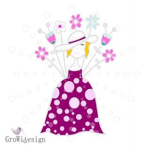 Flower Lady Plotterdatei bei Makerist sofort runterladen