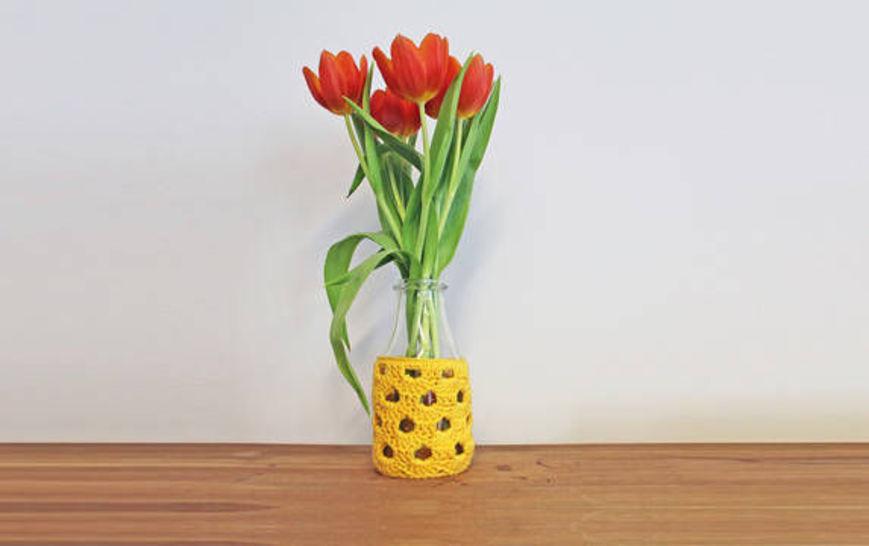 Häkelanleitung Vase Bogen - Häkelanleitungen bei Makerist sofort runterladen