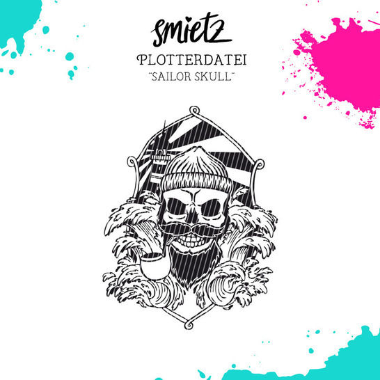 "Plotterdatei ""Sailor Skull"" inklusive Minilizenz - Plotterdateien bei Makerist sofort runterladen"