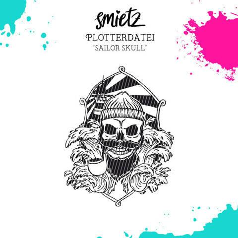 "Plotterdatei ""Sailor Skull"" inklusive Minilizenz bei Makerist sofort runterladen"