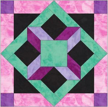 Download HC Window 15 Inch Block Template Pattern for Quilting - Patchwork & Quilting immediately at Makerist