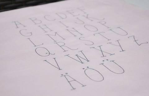 Stickdatei Doodle Alphabet ABC + Zahlen 3cm bei Makerist sofort runterladen