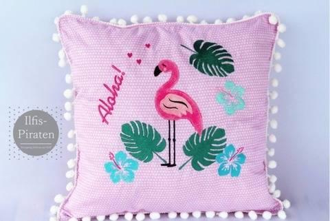 Stickdatei Flamingo Set 10x10/13x18 und 18x30 bei Makerist sofort runterladen