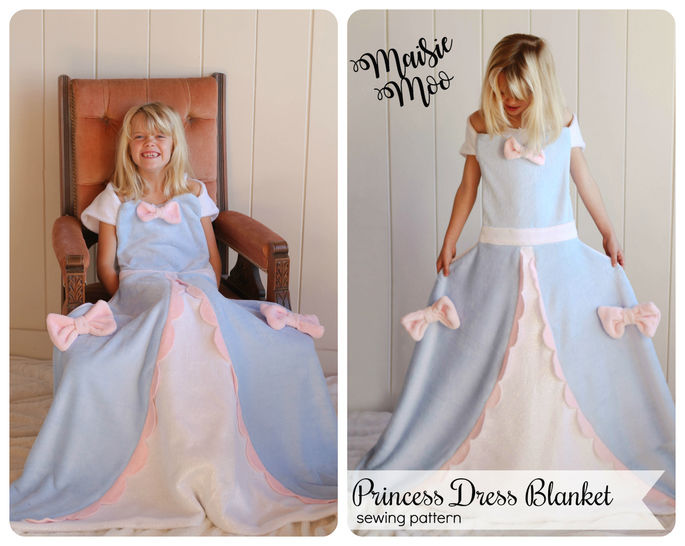 Download Princess Dress Blanket Pattern - Fleece Blanket - Sewing Patterns immediately at Makerist