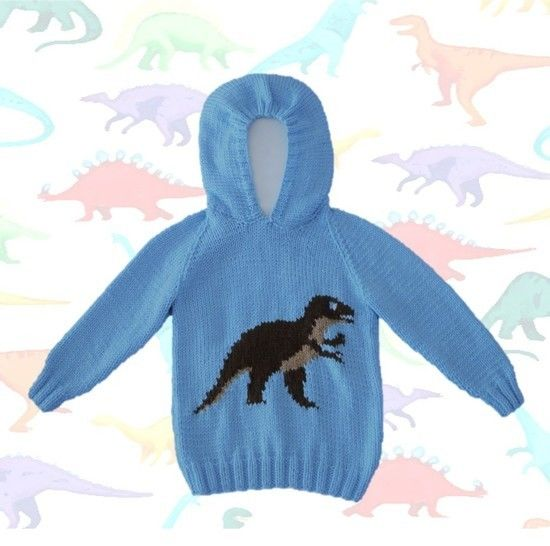 Download TRex Hoodie - Knitting Patterns immediately at Makerist