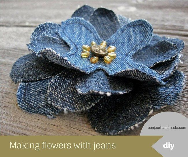 Download Making flowers with jeans – pattern and DIY tutorial PDF - Sewing Patterns immediately at Makerist