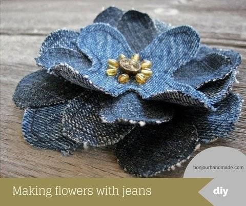 Download Making flowers with jeans – pattern and DIY tutorial PDF immediately at Makerist
