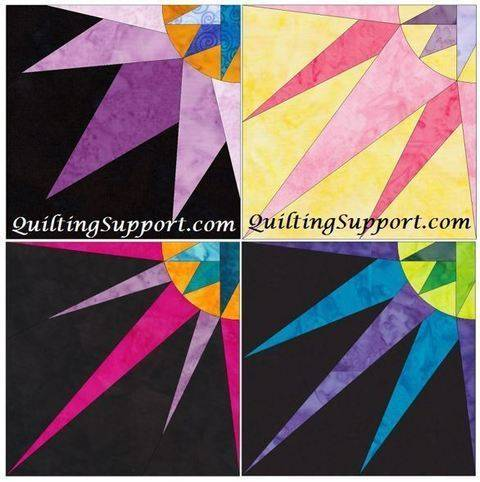 Download HC Quarter Star 10 Inch Set 1 Paper Foundation Piecing Quilting Patterns immediately at Makerist
