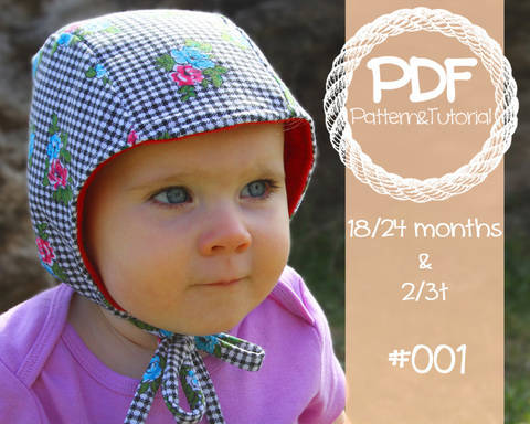 Download Toddler Brimless Bonnet Sewing Pattern // Baby Bonnet Sewing Pattern // Baby Bonnet Pattern // Ears // Hearing Aid Hat Pattern // Pilot Cap immediately at Makerist