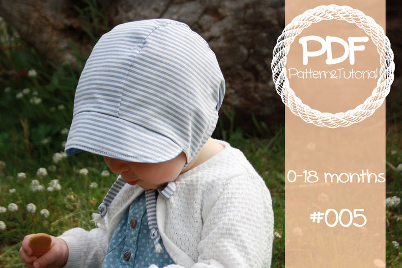 Download Short Brimmed Baby Bonnet Sewing Pattern // Reversible Baby Bonnet // Baby Bonnet // Modern Bonnet Pattern // Baby Boy // Baby Girl // - Sewing Patterns immediately at Makerist