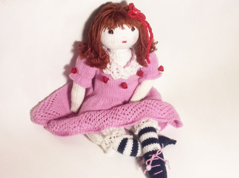 Download Doll knitting pattern – Finished size : 42 cm (16 ½ inches)–  Number 1 - Knitting Patterns immediately at Makerist