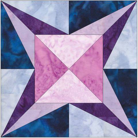 Download Love Star 15 Inch Block Quilting Template Pattern immediately at Makerist